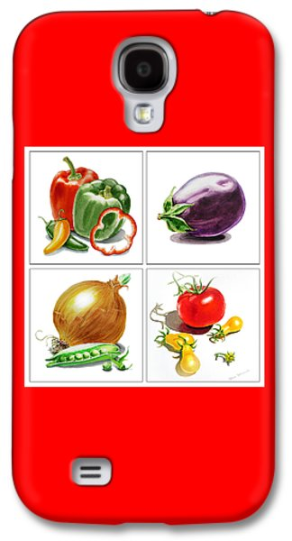 Pepper Paintings Galaxy S4 Cases - Farmers Market Delight  Galaxy S4 Case by Irina Sztukowski