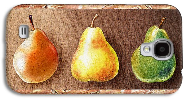 Pears Paintings Galaxy S4 Cases - Farmers Market Drive Through Red Yellow And Green Pear Galaxy S4 Case by Irina Sztukowski