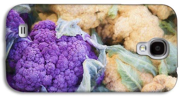 Farmers Market Purple Cauliflower Galaxy S4 Case by Carol Leigh