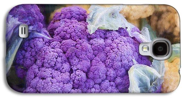 Farmers Market Purple Cauliflower Square Galaxy S4 Case by Carol Leigh