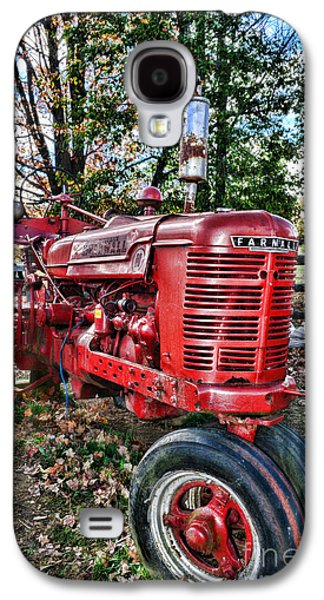 Harvest Time Galaxy S4 Cases - Farmers Tractor Galaxy S4 Case by Paul Ward
