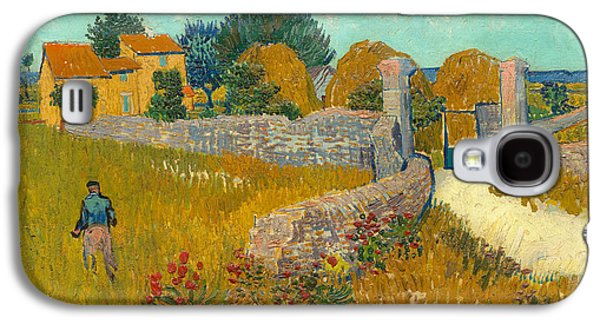 Arles Galaxy S4 Cases - Farmhouse in the Provence Galaxy S4 Case by Vincent van Gogh