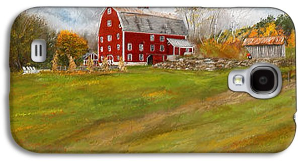 Autumn Scenes Galaxy S4 Cases - Red Barn Art- Farmhouse Inn At Robinson Farm Galaxy S4 Case by Lourry Legarde