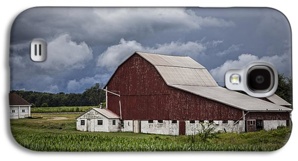 Amish Family Photographs Galaxy S4 Cases - Farming Galaxy S4 Case by Debra and Dave Vanderlaan
