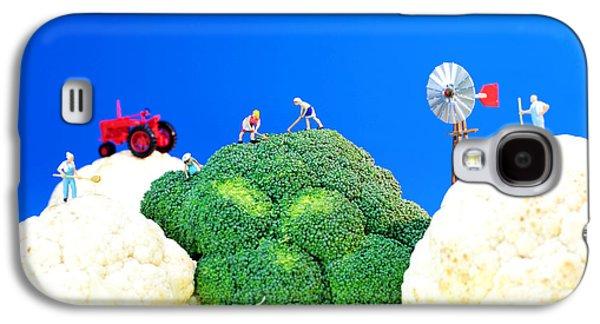 Farmers Field Galaxy S4 Cases - Farming on broccoli and cauliflower Galaxy S4 Case by Paul Ge
