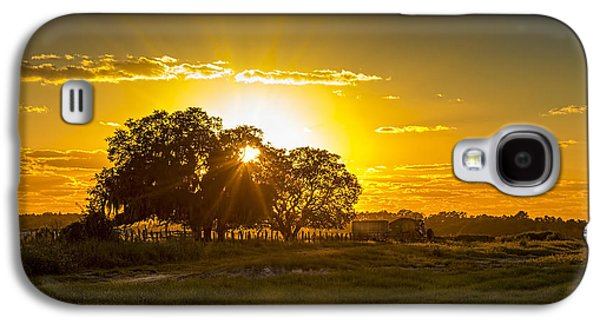 Country Dirt Roads Galaxy S4 Cases - Farmland Sunset Galaxy S4 Case by Marvin Spates