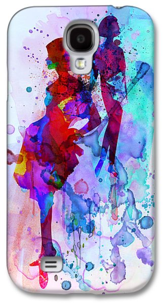 Young Mixed Media Galaxy S4 Cases - Fashion Models 5 Galaxy S4 Case by Naxart Studio