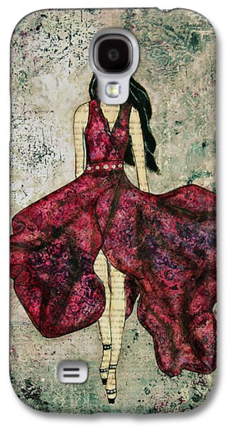 Dressed Galaxy S4 Cases - Fashionista Mixed Media painting by Janelle Nichol Galaxy S4 Case by Janelle Nichol
