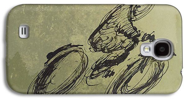 Earth Tones Drawings Galaxy S4 Cases - Faster Faster Galaxy S4 Case by John Malone