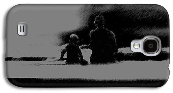 Waterscape Pastels Galaxy S4 Cases - Father and Son Enjoying the Day Galaxy S4 Case by George Pedro