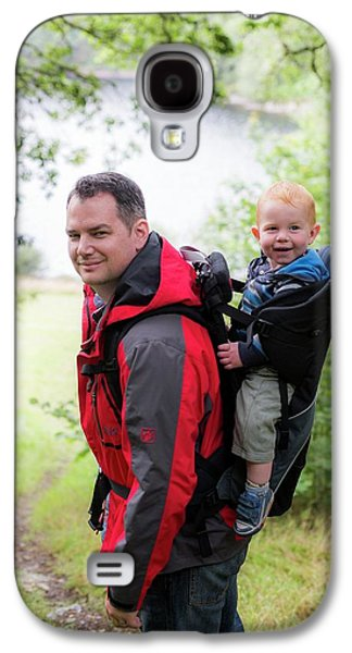 Father Carrying Son In Back Carrier Galaxy S4 Case by Samuel Ashfield