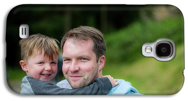 Father Holding Son Galaxy S4 Case by Samuel Ashfield