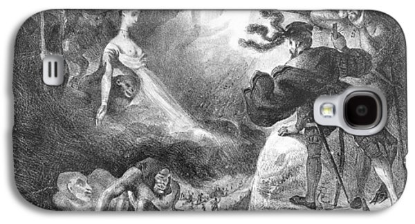 Monster Galaxy S4 Cases - Faust And Mephistopheles At The Witches Sabbath, From Goethes Faust, 1828, Illustration, Bw Photo Galaxy S4 Case by Ferdinand Victor Eugene Delacroix