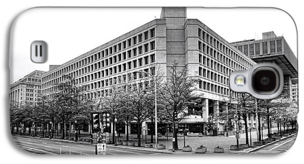 Law Enforcement Galaxy S4 Cases - FBI Building Front View Galaxy S4 Case by Olivier Le Queinec