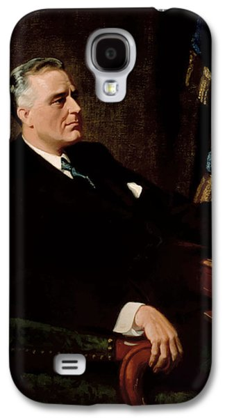 White House Galaxy S4 Cases - FDR Official Portrait  Galaxy S4 Case by War Is Hell Store