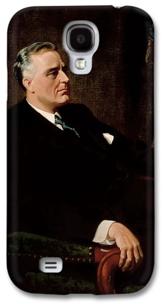 Democrat Paintings Galaxy S4 Cases - FDR Official Portrait  Galaxy S4 Case by War Is Hell Store