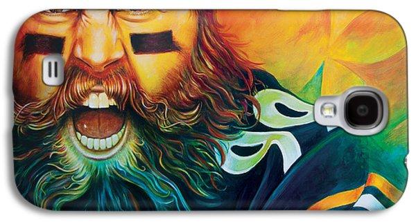 Pittsburgh Galaxy S4 Cases - Fear Da Beard Galaxy S4 Case by Scott Spillman