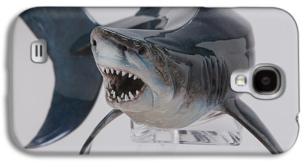 Sharks Sculptures Galaxy S4 Cases - Fear Galaxy S4 Case by Victor Douieb