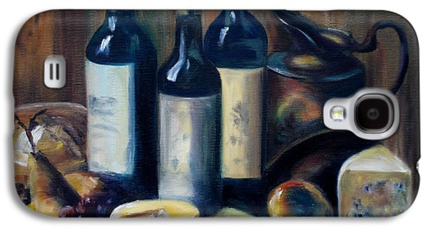 Italian Wine Paintings Galaxy S4 Cases - Feast Still Life Galaxy S4 Case by Donna Tuten