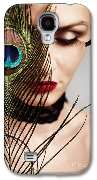 People Pyrography Galaxy S4 Cases - Feather Galaxy S4 Case by Jelena Jovanovic