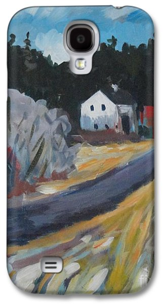 Maine Roads Paintings Galaxy S4 Cases - February Galaxy S4 Case by Laura Webb