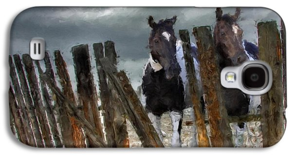 Recently Sold -  - Bison Digital Art Galaxy S4 Cases - Feed Truck is Coming Galaxy S4 Case by Roger D Hale