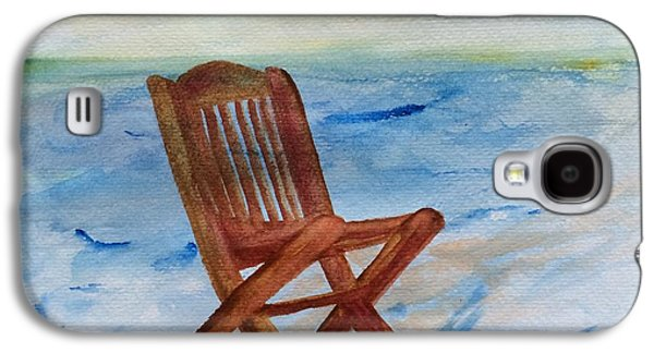 Empty Chairs Paintings Galaxy S4 Cases - Feeling Empty Galaxy S4 Case by Jolanta Benson