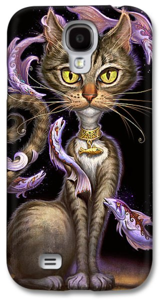 Hanging Galaxy S4 Cases - Feline Fantasy Galaxy S4 Case by Jeff Haynie