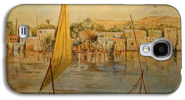 Orientalists Galaxy S4 Cases - Feluccas at Aswan Egypt. Galaxy S4 Case by Juan  Bosco