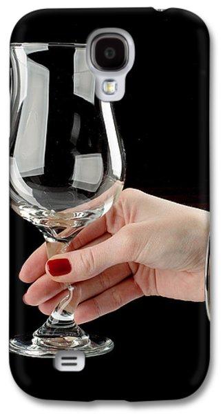 Women Tasting Wine Galaxy S4 Cases - Female hand holding wine glass Galaxy S4 Case by Nikita Buida