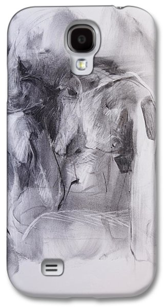 Nudes Pastels Galaxy S4 Cases - Female Nude One Galaxy S4 Case by Janet Goddard