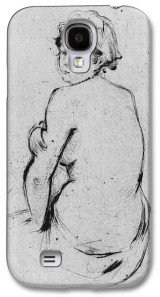 Drypoint Galaxy S4 Cases - Female nude seen from behind Galaxy S4 Case by Berthe Morisot
