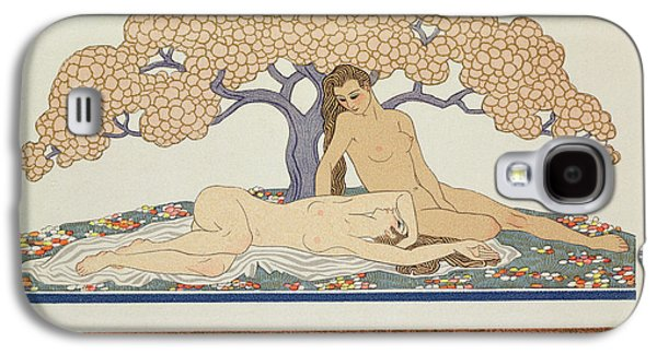 Lesbian Paintings Galaxy S4 Cases - Female nudes Galaxy S4 Case by Georges Barbier