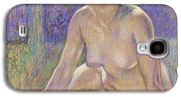 Fantasy Pastels Galaxy S4 Cases - Femme Nue Assise Galaxy S4 Case by Theo Van Rysselberghe