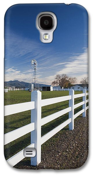 Wine Scene Galaxy S4 Cases - Fence At A Winery, Rutherford, Wine Galaxy S4 Case by Panoramic Images