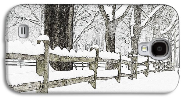 Split Rail Fence Galaxy S4 Cases - Fenced In Forest Galaxy S4 Case by John Stephens