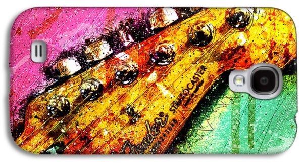 Colorful Abstract Galaxy S4 Cases - Fender Headstock 1 Galaxy S4 Case by Gary Bodnar
