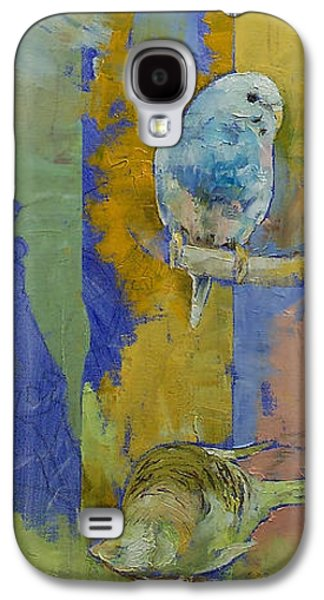 Abstract Nature Galaxy S4 Cases - Feng Shui Parakeets Galaxy S4 Case by Michael Creese