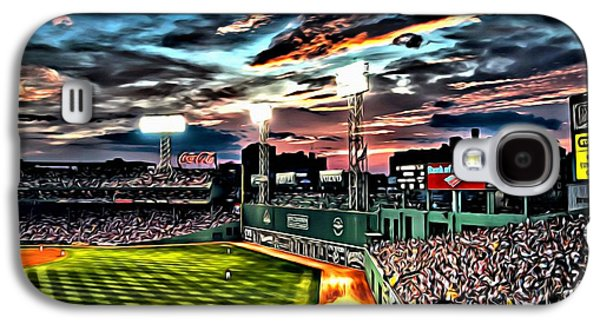 Mlb Galaxy S4 Cases - Fenway Park at Sunset Galaxy S4 Case by Florian Rodarte