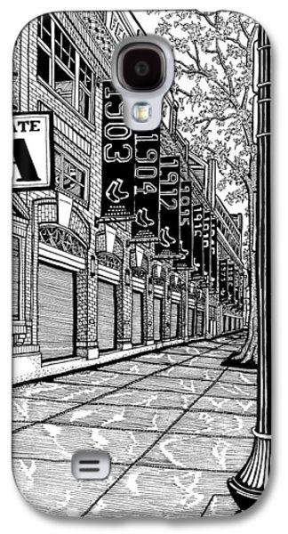 Park Scene Drawings Galaxy S4 Cases - Fenway Park Galaxy S4 Case by Conor Plunkett