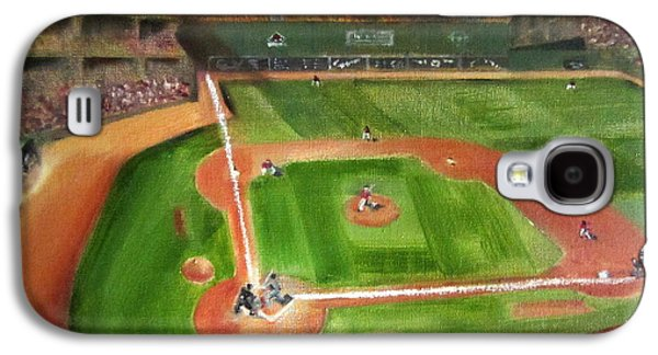 Red Sox Paintings Galaxy S4 Cases - Fenway Park Galaxy S4 Case by Lindsay Frost