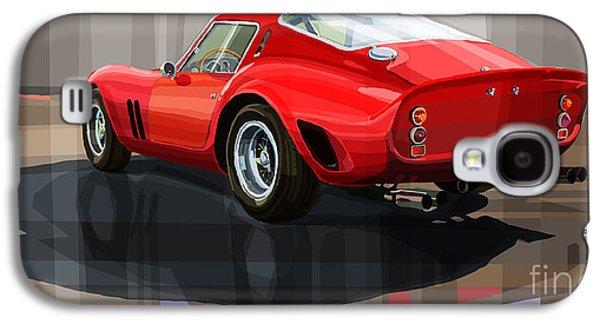 Digital Mixed Media Galaxy S4 Cases - Ferrari 250 GTO Galaxy S4 Case by Yuriy Shevchuk