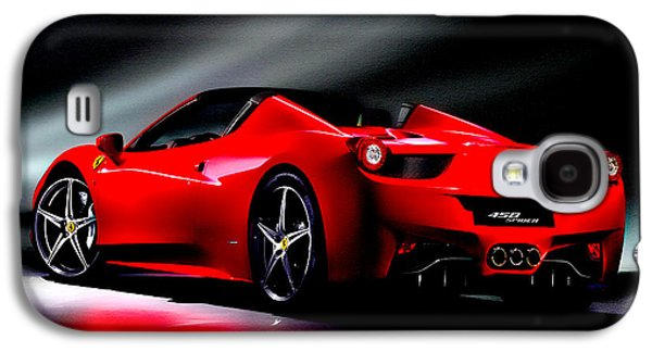 French Open Mixed Media Galaxy S4 Cases - Ferrari 458 Spider Galaxy S4 Case by Brian Reaves