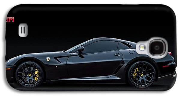 Black Digital Art Galaxy S4 Cases - Ferrari 599 GTB Fiorano Galaxy S4 Case by Douglas Pittman