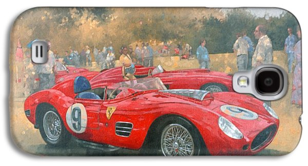 Race Galaxy S4 Cases - Ferrari, Day Out At Meadow Brook Oil On Canvas Galaxy S4 Case by Peter Miller