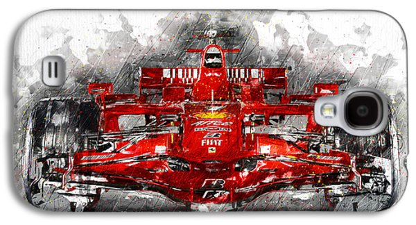 Race Galaxy S4 Cases - Ferrari F1 Galaxy S4 Case by Gary Bodnar