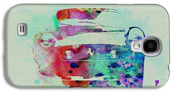 Naxart Drawings Galaxy S4 Cases - Ferrari Front Watercolor Galaxy S4 Case by Naxart Studio