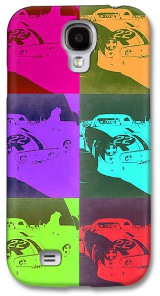 Concept Mixed Media Galaxy S4 Cases - Ferrari GTO Pop Art 3 Galaxy S4 Case by Naxart Studio
