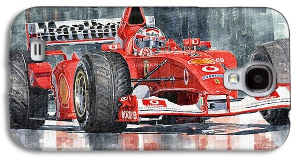 Ferrari Marlboro F 2002 Ferrari 051 Rubens Borrichello Galaxy S4 Case by Yuriy  Shevchuk