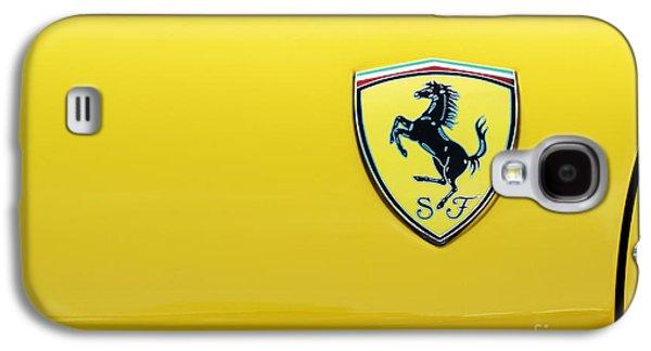 Motifs Galaxy S4 Cases - Ferrari Yellow Galaxy S4 Case by Tim Gainey